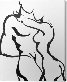 Tableau sur toile Couples dans l'amour