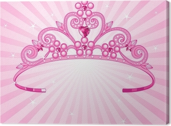 Tableau sur toile Couronne princesse
