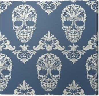 Tableau sur toile Crâne de remous décoratif