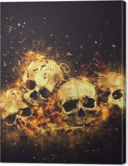 Tableau sur toile Crânes et des os