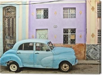 Tableau sur toile Cuba, La Habana, décomposées Voiture d'époque
