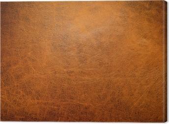 Tableau sur toile Cuir brun texture de fond avec la lumière de côté.