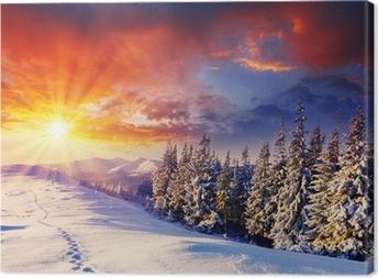 Tableau sur toile D hiver
