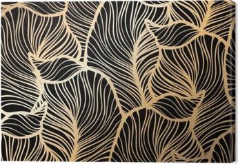 Tableau sur toile Damassé motif floral. Papier peint royal