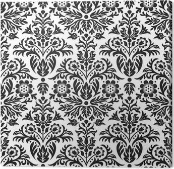 Tableau sur toile Damassé Seamless Floral Pattern Background