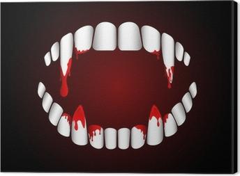 Tableau sur toile Dents de vampire