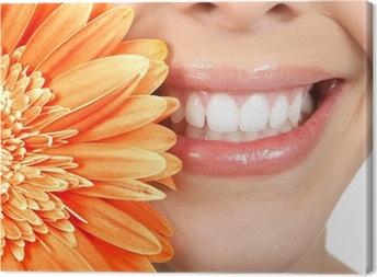 Tableau sur toile Dents femme