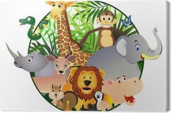 Tableau sur toile Dessin animé Safari