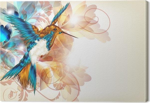 Tableau sur toile dessin vectoriel color avec r aliste - Dessin colore ...