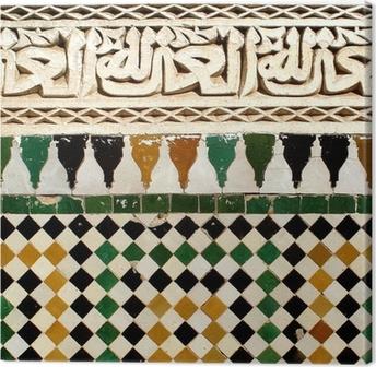 Tableau sur toile Détail du motif ornemental arabe de la céramique sur le mur