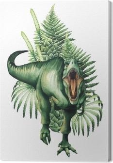 Tableau sur toile Dinosaure aquarelle réaliste