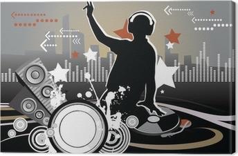 Tableau sur toile Dj, le concept de musique, illustration