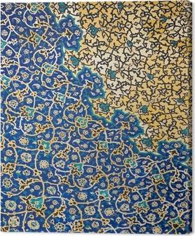 Tableau sur toile Dôme de la mosquée, ornements orientaux de Isfahan, Iran