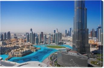 Tableau sur toile Downtown Dubai est un endroit populaire pour le shopping et le tourisme