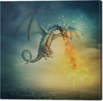 Tableau sur toile Dragon