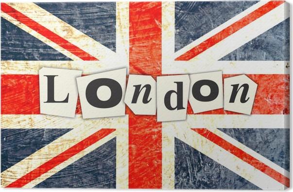 tableau sur toile drapeau anglais londres pixers nous vivons pour changer. Black Bedroom Furniture Sets. Home Design Ideas