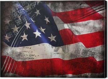 Tableau sur toile Drapeau des Etats-Unis (Etats-Unis d'Amérique)