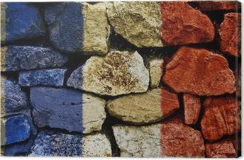 Tableau sur toile Drapeau français