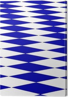 Tableau sur toile Échiquier bleu