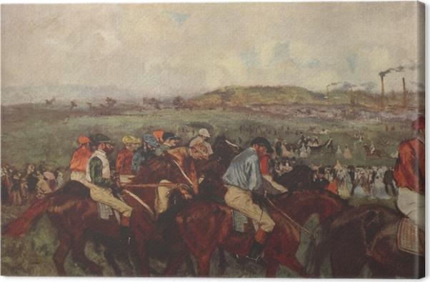 Tableau sur toile Edgar Degas - Chevaux de course - Reproductions