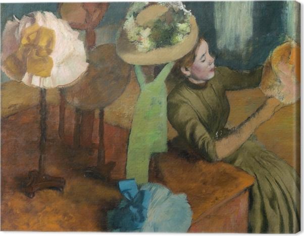Tableau sur toile Edgar Degas - Chez la modiste - Reproductions