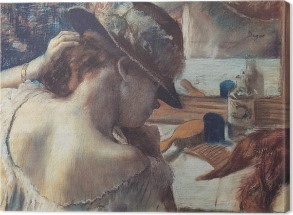 Tableau sur toile Edgar Degas - Devant le miroir - Reproductions