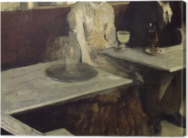 Tableau sur toile Edgar Degas - L'Absinthe - Reproductions