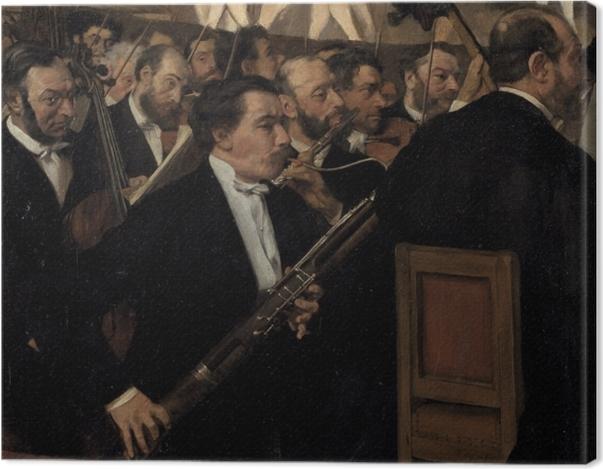 Tableau sur toile Edgar Degas - L'orchestre de l'Opéra - Reproductions