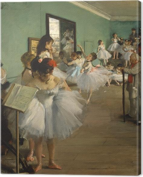 Tableau sur toile Edgar Degas - La Classe de danse - Reproductions