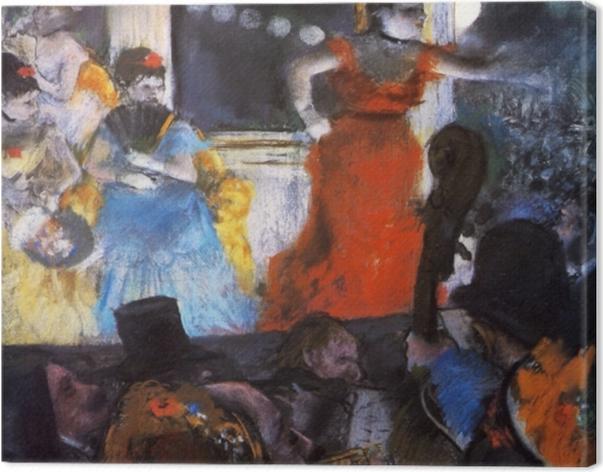 Tableau sur toile Edgar Degas - Le Café-concert aux ambassadeurs - Reproductions