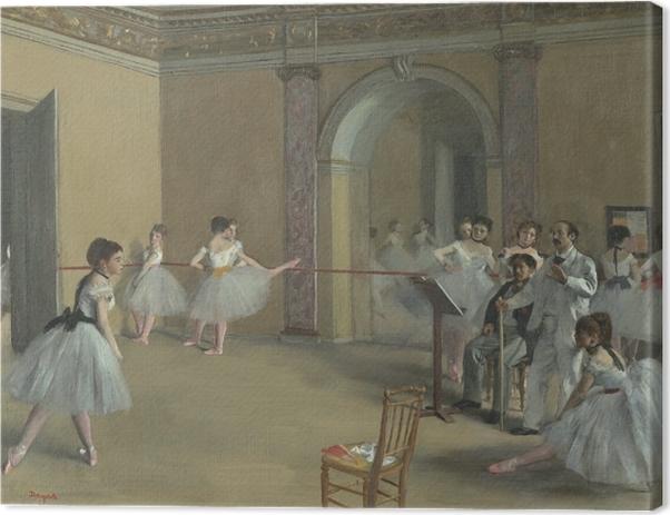 Tableau sur toile Edgar Degas - Le Foyer de la danse à l'Opéra de la rue Le Peletier - Reproductions