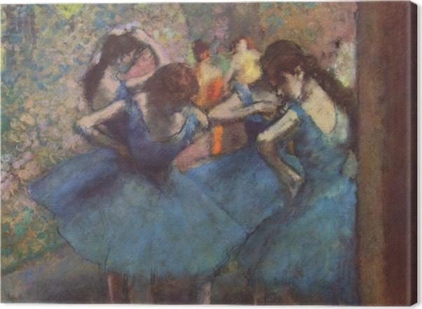 Tableau sur toile Edgar Degas - Les danseuses bleues - Reproductions