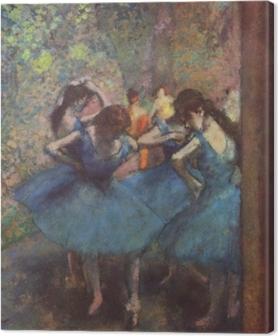 Tableau sur toile Edgar Degas - Les danseuses bleues