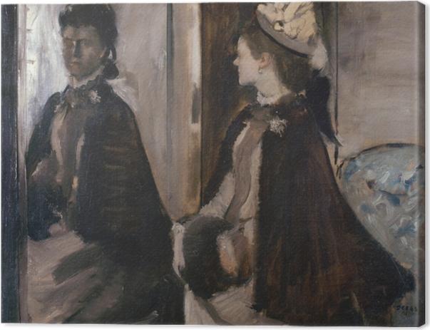 Tableau sur toile Edgar Degas - Madame Jeantaud au miroir - Reproductions