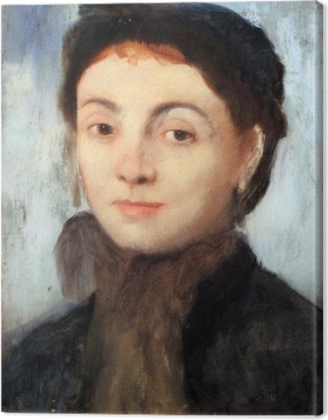 Tableau sur toile Edgar Degas - Portrait de Joséphine Gaujelin - Reproductions