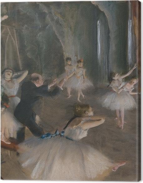 Tableau sur toile Edgar Degas - Répétition d'un ballet sur la scène - Reproductions
