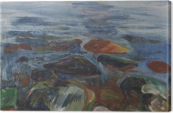 Tableau sur toile Edvard Munch - Bateau à la mer - Reproductions
