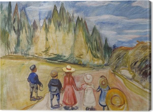 Tableau sur toile Edvard Munch - Forêt enchantée - Reproductions