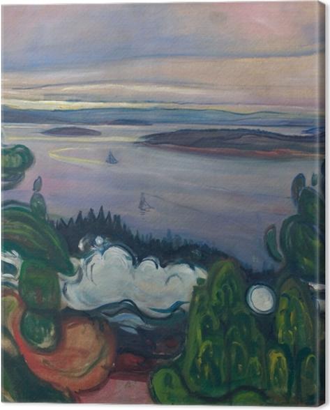 Tableau sur toile Edvard Munch - La Fumée du Train - Reproductions