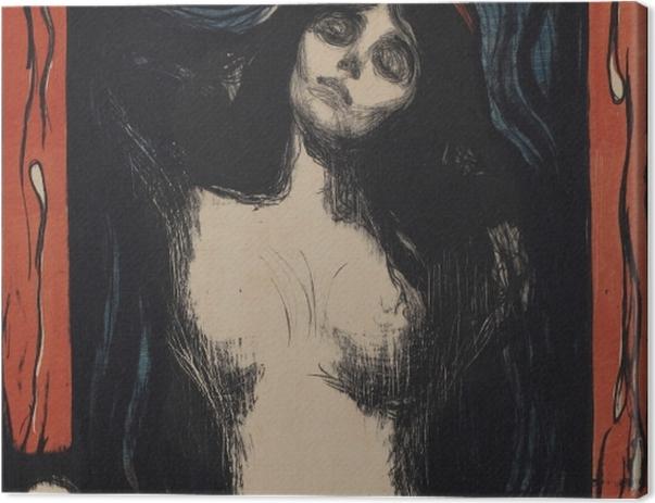 Tableau sur toile Edvard Munch - La Madone - Reproductions