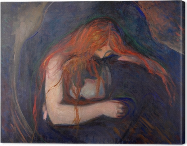 Tableau sur toile Edvard Munch - Vampire - Reproductions