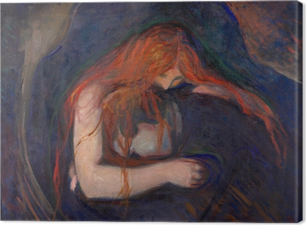 Tableau sur toile Edvard Munch - Vampire - Reproductions
