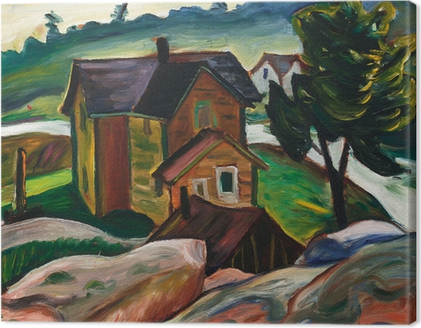 Tableau sur toile Efa Prudence Heward - Whitefish Falls, baie Georgienne - Reproductions