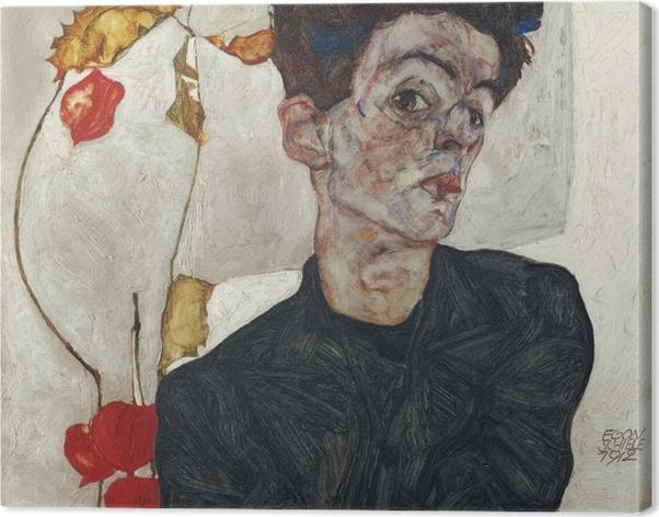 Tableau sur toile Egon Schiele - Autoportrait - Reproductions