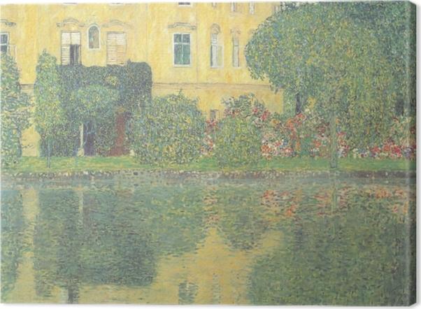 Tableau sur toile Egon Schiele - Les arbres se reflétant dans un étang - Reproductions