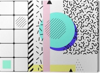 Tableau sur toile éléments géométriques memphis