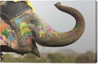 Tableau sur toile Éléphant décoré au festival éléphant à Jaipur