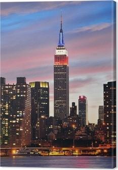 Tableau sur toile Empire State Building de nuit