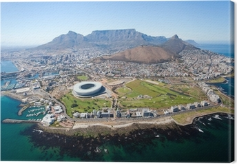 Tableau sur toile Ensemble vue aérienne de Cape Town, Afrique du Sud