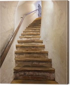 Tableau sur Toile Escaliers dans le château de Kufstein - Autriche
